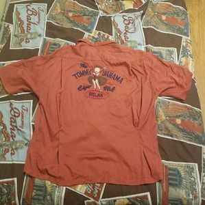 Vintage Tommy Bahama Relax Embroidered Rayon Shirt